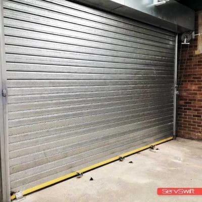 Insulated Roller Shutter Door Installation www.servswift.co.uk