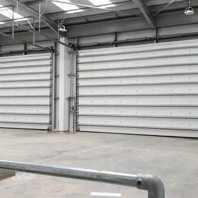 Sectional Shutter Door Installation ServSwift 2
